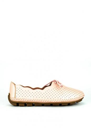 Mario D' boro Runway pink LR 89377-Salmon Pink Flats 6BA5DSH58FCE33GS_1