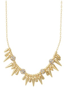 Stella and Dot Renegade Necklace Cluster Spikes – Gold