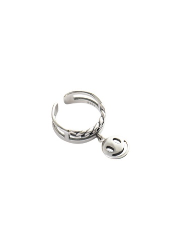 A-Excellence silver Premium S925 Sliver Geometric Ring B9ED6AC4BD74A9GS_1