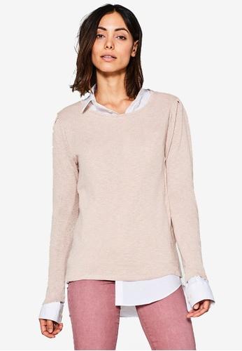 ESPRIT pink Long Sleeve T-Shirt ES374AA0SPHOMY_1