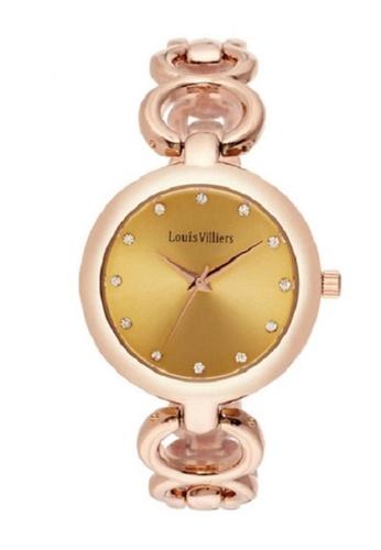 Louis Villiers multi Louis Villiers AL2927-10 Women's Rose Gold Stainless Steel Bracelet Watch A5A7EAC17E8B45GS_1