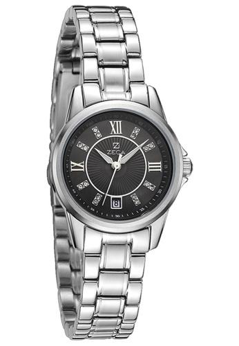 ZECA black and silver Zeca Watches Couple Ladies Fashion - 308L Silver Black ZE260AC85SKWSG_1