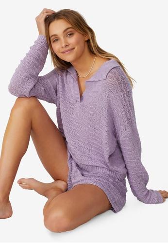 Cotton On Body purple Summer Lounge Beach Knit Top FF167AA174B833GS_1
