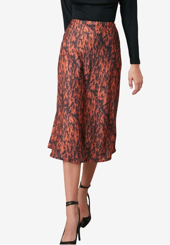 Trendyol multi Printed Satin Midi Skirt 7B8AAAA7709B06GS_1