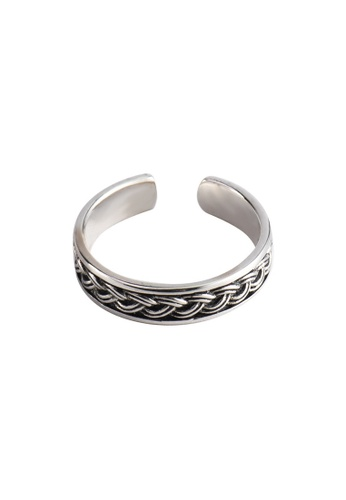 A-Excellence silver Premium S925 Sliver Twine Ring 44D46AC1A4E239GS_1