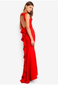 a1bf4b480ef JARLO LONDON red Yulia Dress 98752AA8C303BCGS 1