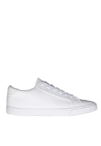 Twenty Eight Shoes 白色 基本綁帶柔軟人造皮革休閒鞋 VCQ1066 90F1ASH9C1CE25GS_1