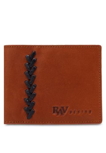 RAV Design brown Leather Money Clip Wallet RA113AC0RQL6MY_1