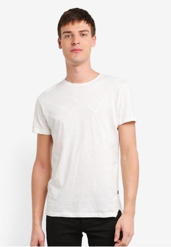!Solid white Karsen Cut & Sew T-Shirt SO701AA0S8T5MY_1