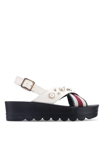 Noveni 白色 鉚釘厚底楔型鞋 3473ESHCF00854GS_1