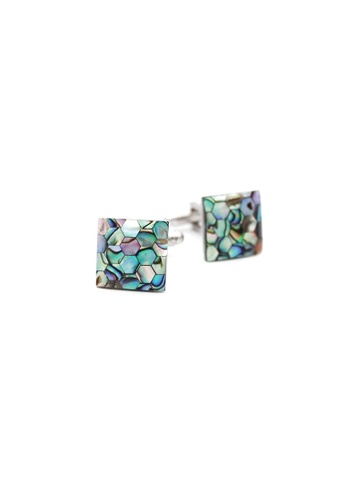 Red Stag And Hind green Red Stag And Hind Honeycomb Mother of Pearl Cufflinks 40A3CACD2C46F8GS_1