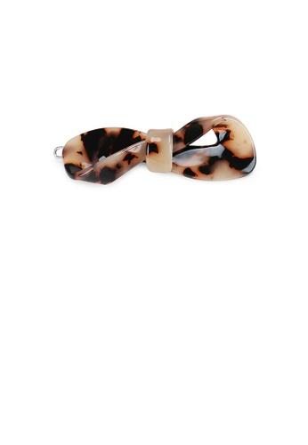 Glamorousky brown Simple and Fashion Light Tortoiseshell Ribbon Hair Clip 5FCA5ACBFDE3E9GS_1