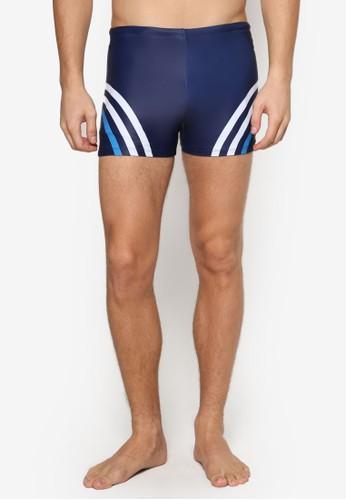 條esprit招聘紋飾短泳褲, 服飾, 沙灘褲及泳裝短褲
