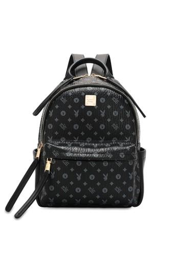 PLAYBOY BUNNY black Monogram Backpack 50FEFACAA024DEGS_1