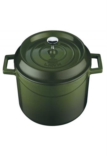 Lava green Lava Cast Iron Casserole - 32 cm 22D33HL2BB5A18GS_1