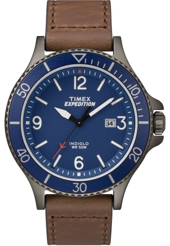 TIMEX brown Exped Ranger Brown Blue Dial TI857AC0FP31SG_1