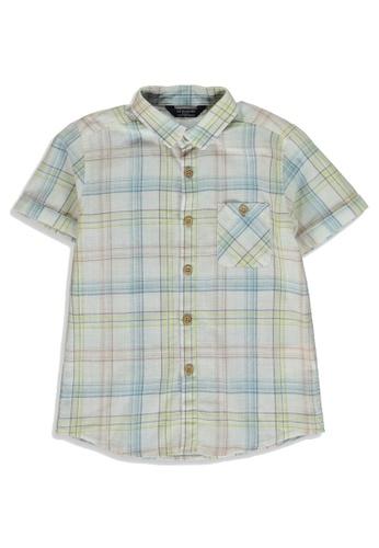 LC Waikiki blue Boy's Checkered Poplin Shirt 25E9FKA4684428GS_1