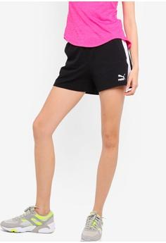 new york 8cc7d cfef8 PUMA black Classics Womens T7 Shorts 2E617AA9F515AEGS 1