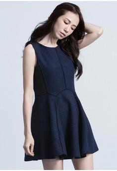 Geo Arc Sophistication Flared Dress