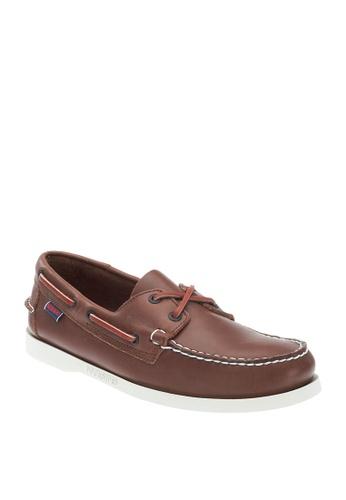 Sebago brown Mens Docksides Boat Shoes 4E252SH4B988A1GS_1
