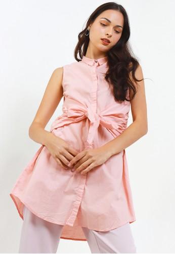 Logo Jeans pink Dessert Sleeveless Shirt 437B1AAD15AE62GS_1