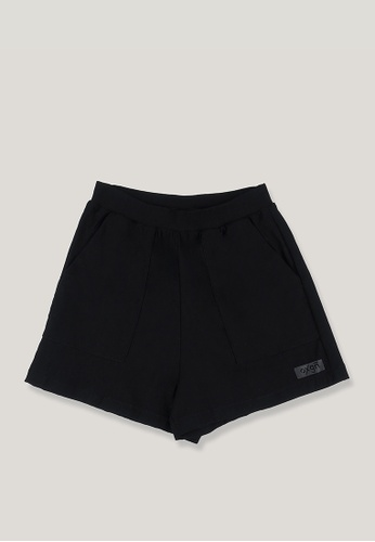 OXYGEN black OXGN Premium Threads Mid Waist Knit Shorts With Special Print F95D0AA81816E2GS_1