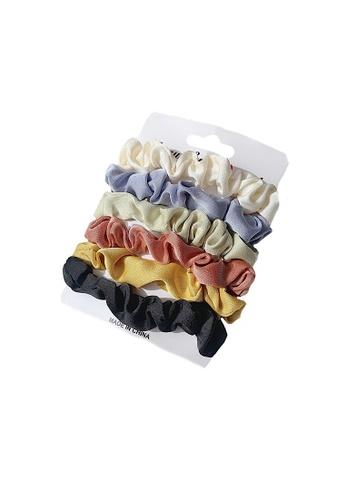 Glamorbit multi Silky Hair Scrunchies Set 7A95CAC37C9F7BGS_1