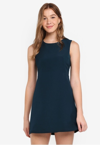ZALORA green Basic A Line Dress B0ECBAAD08BC22GS_1