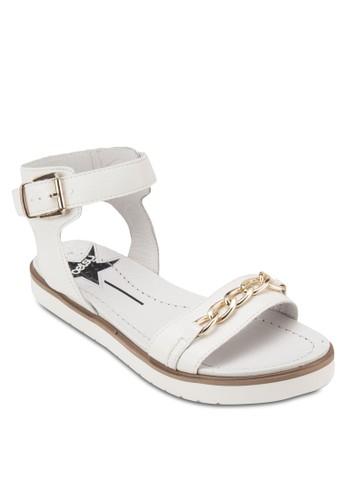 鍊飾繞踝厚底涼鞋, esprit台灣女鞋, 鞋