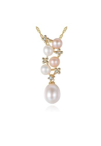 SUNRAIS silver High-grade colored stone silver flower necklace D1198AC56E1F72GS_1