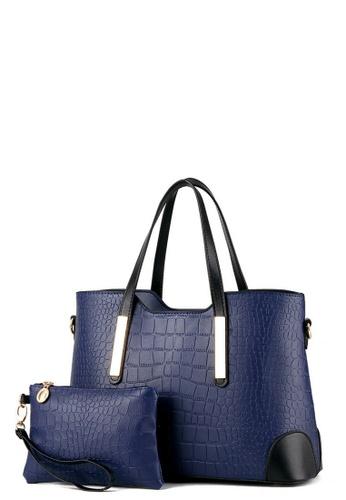 fc012be42bb TCWK Set of 2 pcs Navy Blue Ladies Handbag