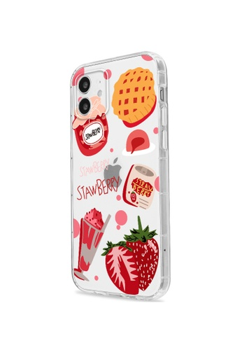 Kings Collection white Strawberry Dessert iPhone 12 Case (KCMCL2266) D7CCBACE869091GS_1