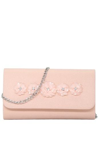 London Rag beige Nude Stylish Shimmering Sling Bag 005F5AC7E28949GS_1