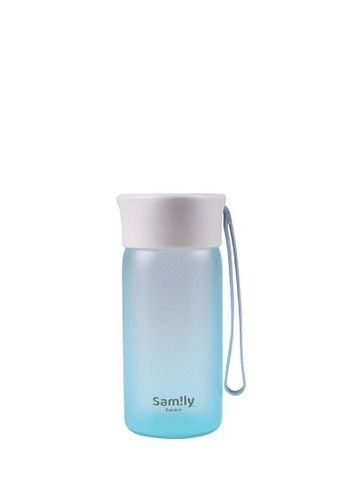Samily blue Sam!ly® 230ml Silicone Coated Water Bottle - Blue BB72CHL1EB25F8GS_1