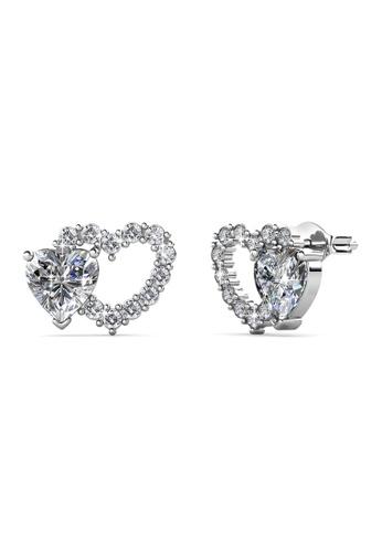Her Jewellery silver Dear Love Earrings - Licensed Genuine Crystals from Swarovski® HE581AC0SICNMY_1