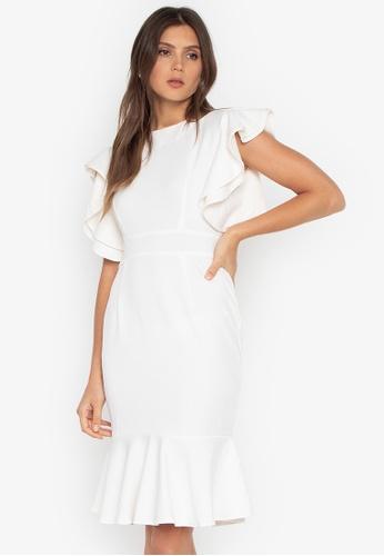 391d6ea731 Shop RUESALIDOU Criza Ruffle Sleeve Dress Online on ZALORA Philippines