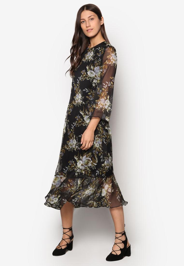 Collection Sheer Maxi Dress