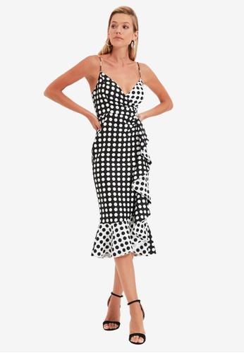 Trendyol multi Frilled Polka Dot Dress 12E38AA2DA68B2GS_1