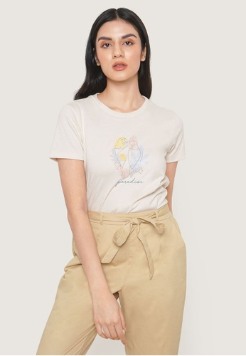 ForMe white Paradise Graphic Tee F5940AADF3C195GS_1