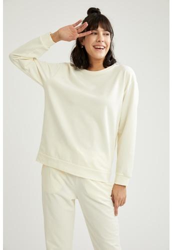 DeFacto beige Woman Homewear Knitted Top C73D0AA39BD5ABGS_1