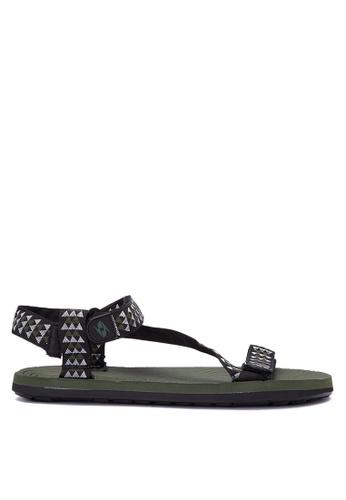 Krooberg black and green Radial Sandals 5 KR692SH0J08VPH_1
