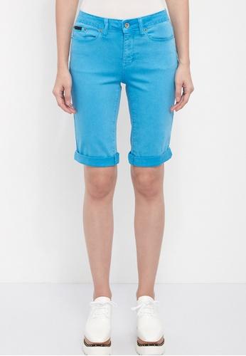 Dkny blue DKNY Women Garment Dyed Bermuda Shorts 45CFBAAD2E52ECGS_1