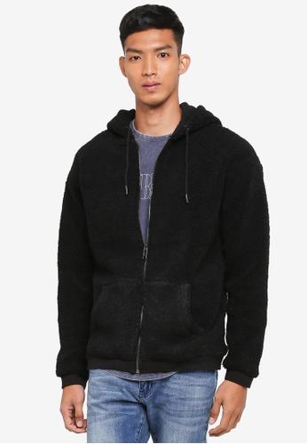 Cotton On black Premium Zip Hood FAD0DAAA25849BGS_1