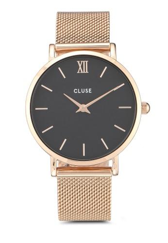 CLUSE gold Minuit Mesh Rose Gold/Black 85931AC11E736BGS_1