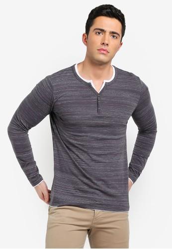 ESPRIT grey Layered Henley T-Shirt 731D5AA5E59B0AGS_1