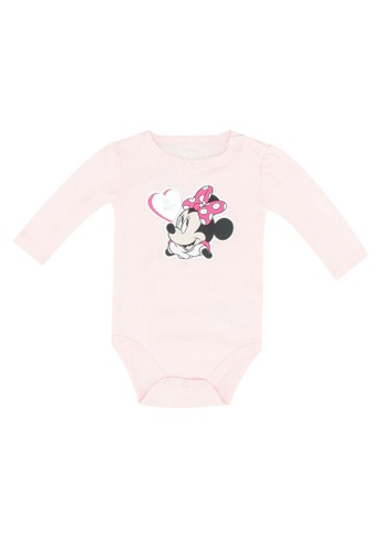 FOX Kids & Baby pink Newborn Long Sleeve Bodysuit 9E1F6KA433A508GS_1