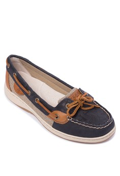 Angelfish Embossed Boat Shoes