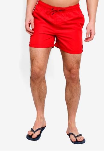 Jack & Jones red Jjicali Swim Shorts 7AE5DAA3194BD1GS_1