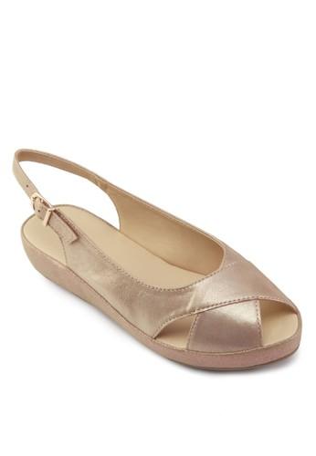 Lara 魚口踝帶京站 esprit涼鞋, 女鞋, 鞋