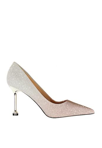 Twenty Eight Shoes 粉紅色 閃粉漸變色晚裝及新娘鞋 VP07551 0CB1FSHA59D2D2GS_1